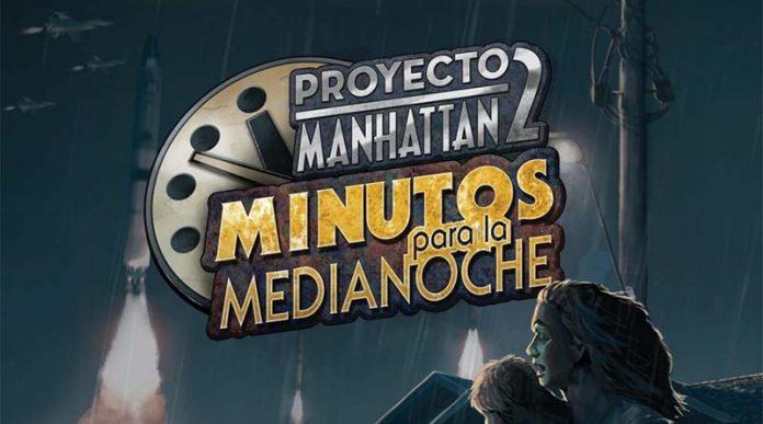 Logotipo de proyecto Manhattan 2 minutos para la medianoche