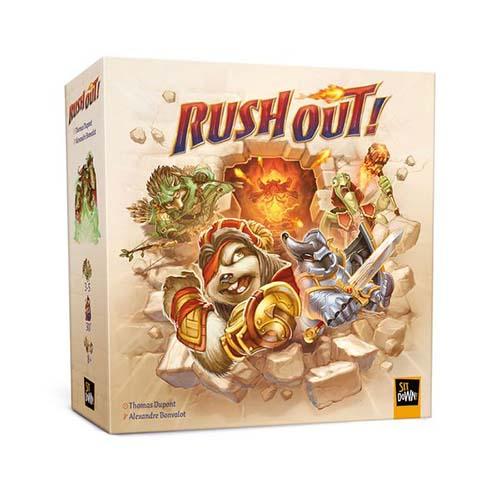 Portada del juego de mesa Rush Out!