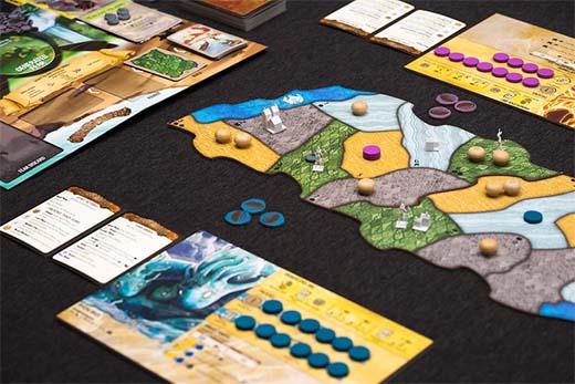 Detalle del juego de mesa Spirit Island