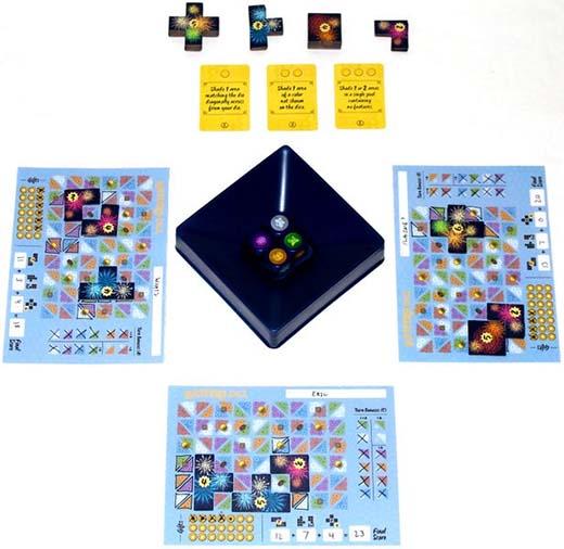 componentes de Lanterns el juego de dados