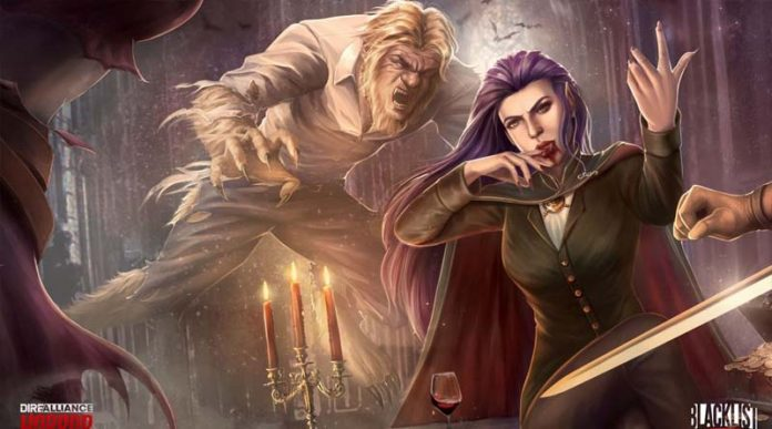Detalle de la portada de Dire Alliance Horror