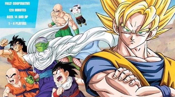 Detalle de la portada de Dragon Ball Z The Board Game Saga