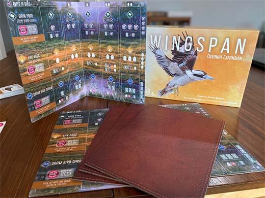 Nuevos tableros de la expansión Oceanía de Wingspan