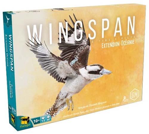 Portada de la expansión Oceanía de Wingspan