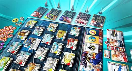 Detalle del tablero del juego de mesa Freedom Five