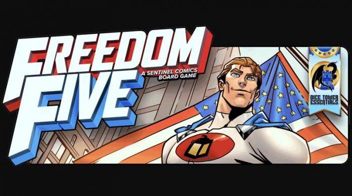 Banner promocional del juego de tablero Freedom Five