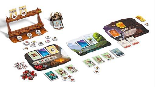 Componentes del juego de mesa paleo