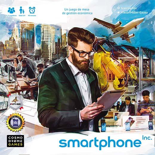 Portada del juego de tablero Smartphone Inc