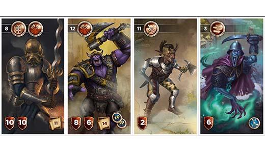 Cartas del juego de tablero Soul raiders