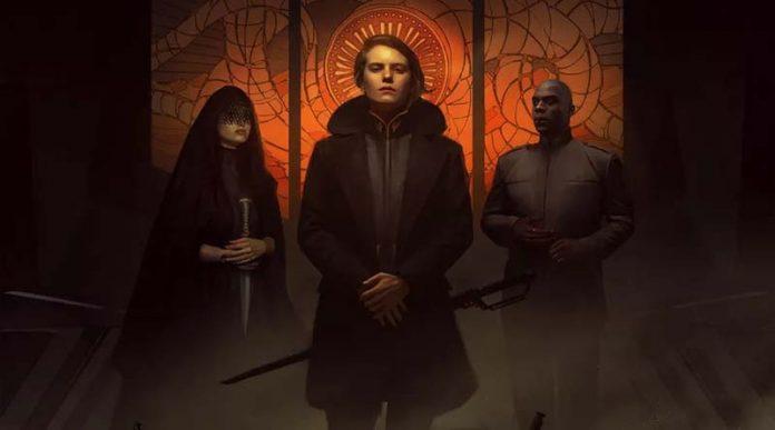 Detalle de la portada de Dune adventures in the imperium
