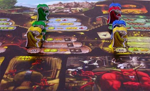 Detalle de una partida de Dungeon Lords