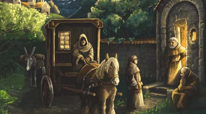 Detalle de la portada de Monasterium