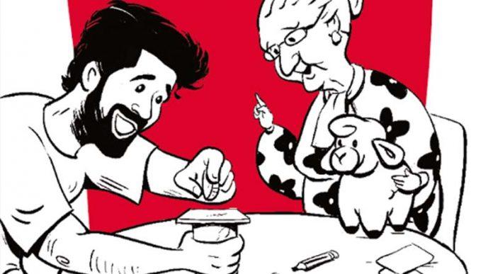Detalle del arte de la portada de Tatajuegos