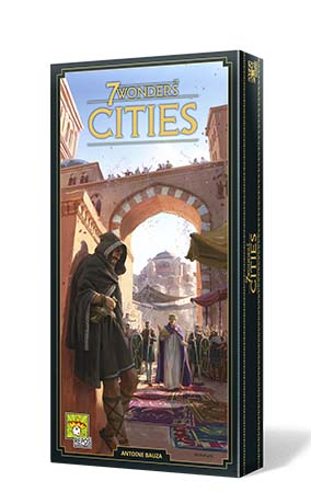 Portada de la expansión para 7 wonders 2ª edición Cities