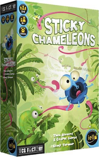 Portada de Sticky Chameleons