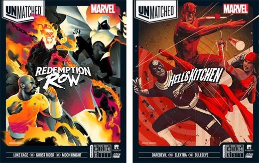 Portadas de dos de los títulos de Unmatched Marvel