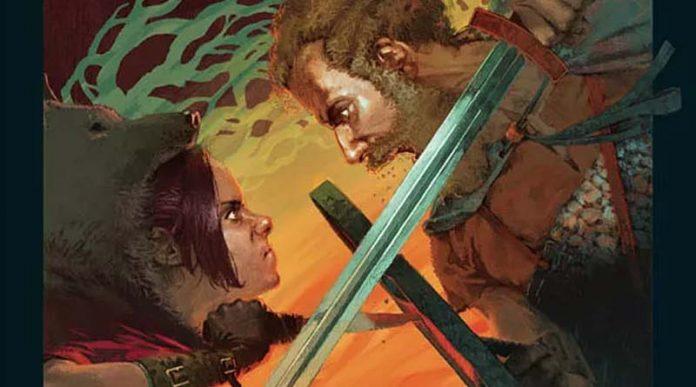 Detalle de la portada de Unmatched caperucita contra Beowulf