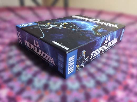 Detalles de la caja del juego de mesa La Tripulación, en busca del noveno planeta