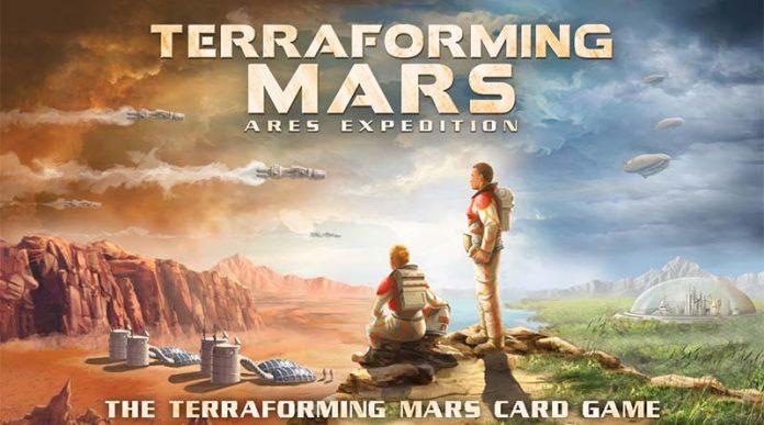 Detalle de la portada de Terraforming Mars Ares Expedition
