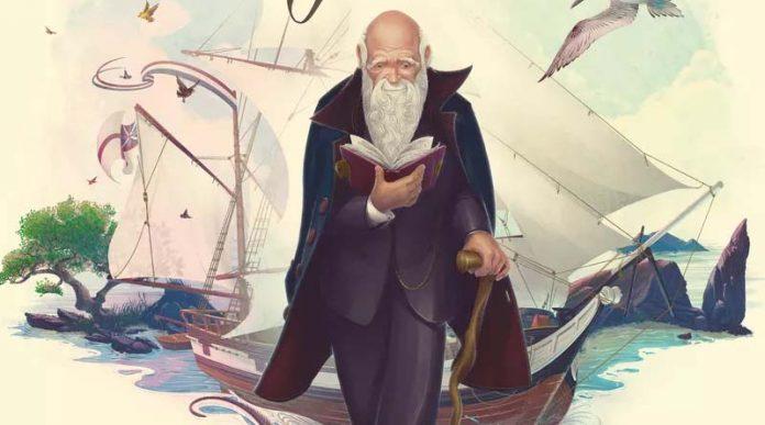 Detalle de la portada de Darwin's Journey