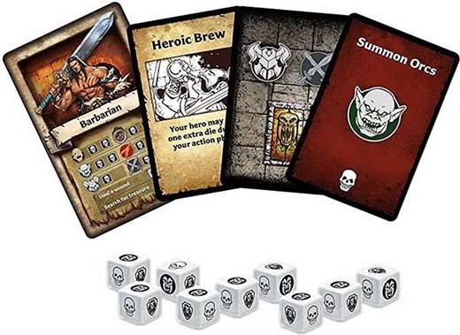 Componentes de Heroquest el juego de cartas