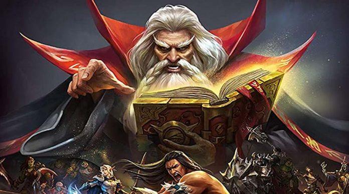 detalle del arte de la portada de Heroquest el juego de cartas