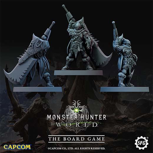 Miniaturas de héroes de Monster Hunter World the boardgame