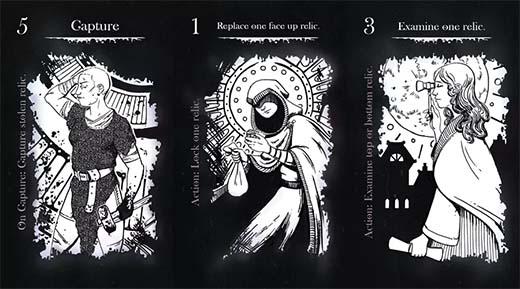 Cartas de ladrones de Nine Raven