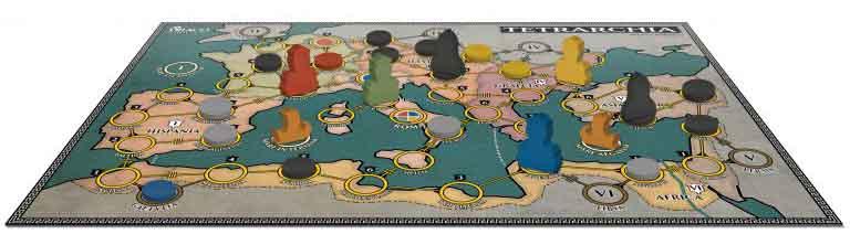 Tablero del juego TETRARCHIA
