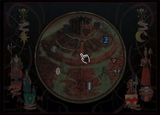 mapa de Warhammer Quest Cursed City