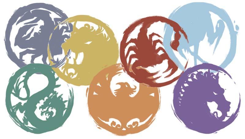 Logo clanes de La Leyenda de los Cinco Anillos