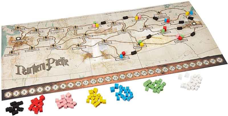 Componentes del juego Northern Pacific