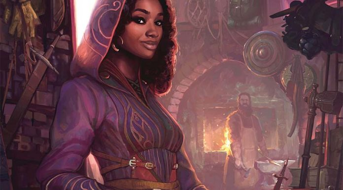 Detalle de la portada de Merchants of Magick