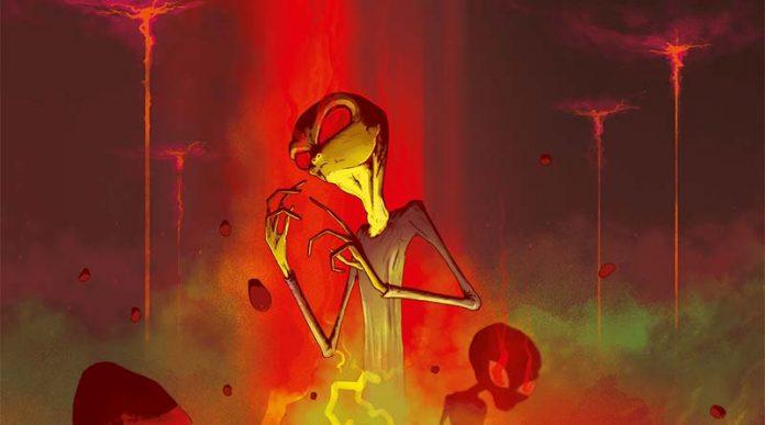 Detalle de la portada de On Mars: Alien Invasion