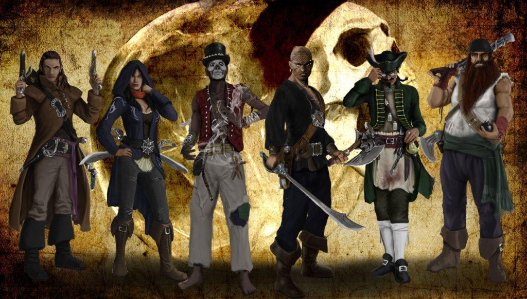 Personajes del juego Skull Tales