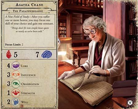 Taejeta de investigador de Agatha Crane