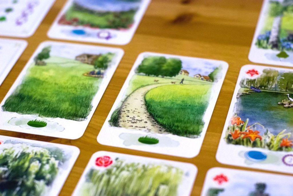 Cartas del juego Village Green