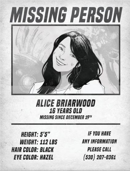 Cartel de Alicia ha desaparecido