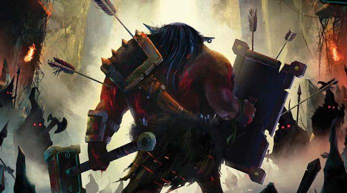 Detalle de la portada de Fall of the mountain king