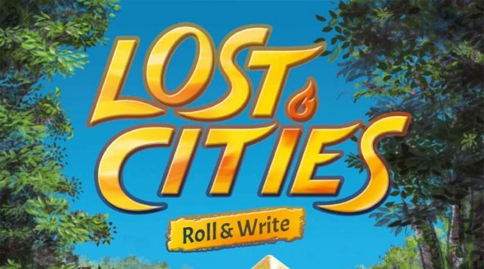 Logotipo de Lost Cities Roll and Write
