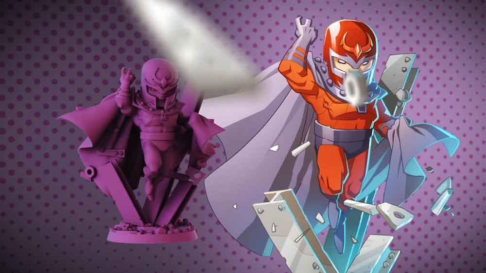 Figura de Magneto en Marvel United: X-Men
