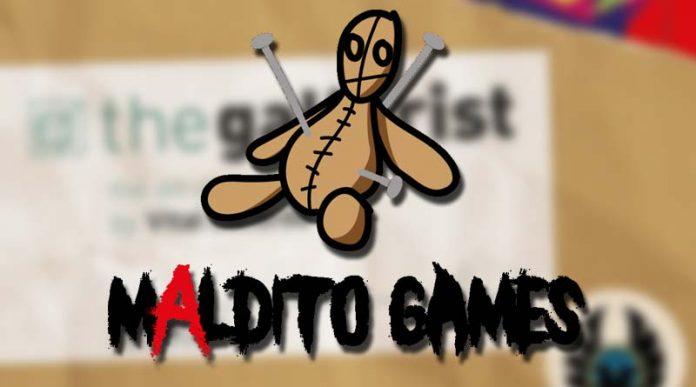 Logo de Maldito Games con fondo