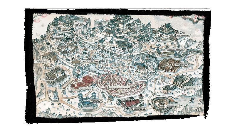 Mapa de El abrazo del invierno de La Leyenda de los Cinco Anillos