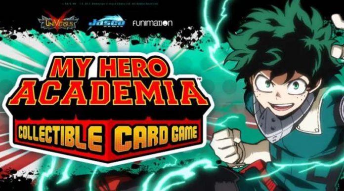 Banner promocional de My Hero Academia CCG