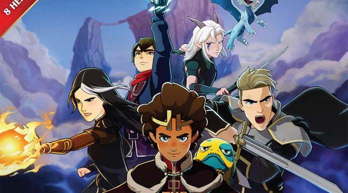 Detalle de la portada de The Dragon Prince Battlecharged