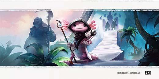 Diseño de personaje de Tidal Blades