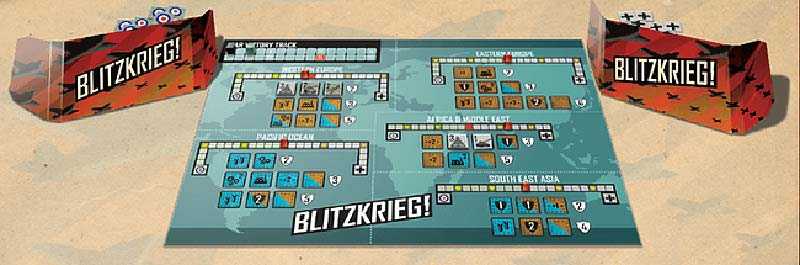Componentes del juego de mesa Blitzkrieg!
