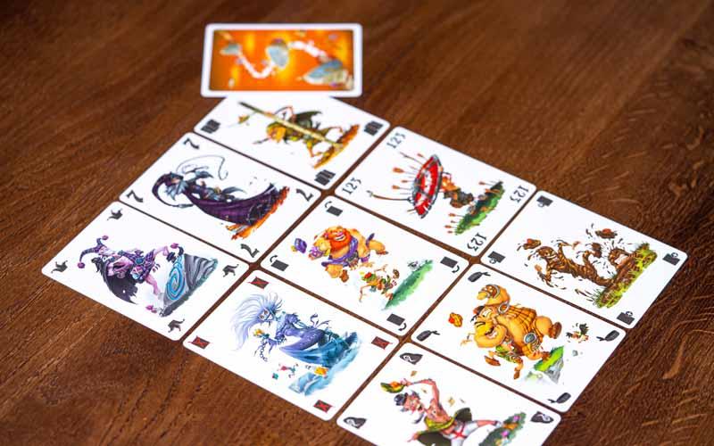 cartas del juego Schotten Totten!