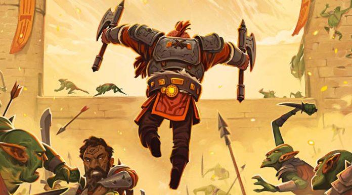 Detalle de la portada de The Siege of Runedar