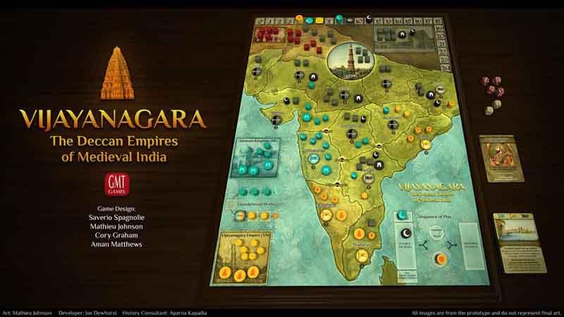 Juego Vijayanagara en la mesa